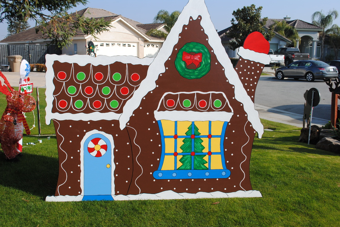 Gingerbread r b yard art and holiday decorations for Art and decoration