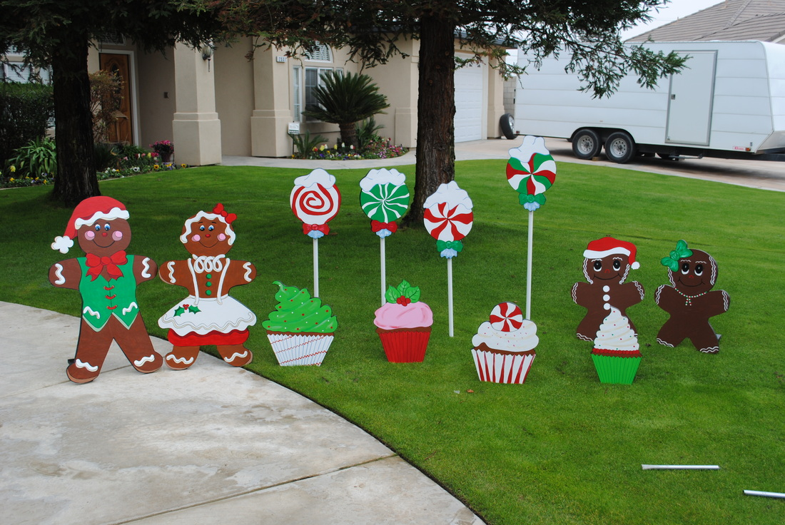 create a free website - Christmas Gingerbread House Yard Decoration